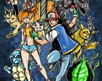 Pokemon Digital Print