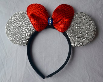 Disney Silver Patriotic Ears