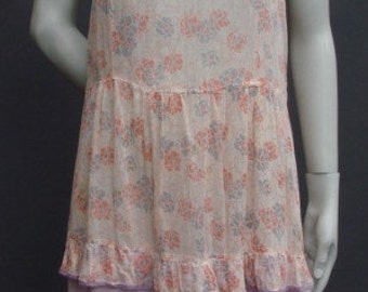 Vintage 1930s/30s Cotton Floral Day DRESS Summer