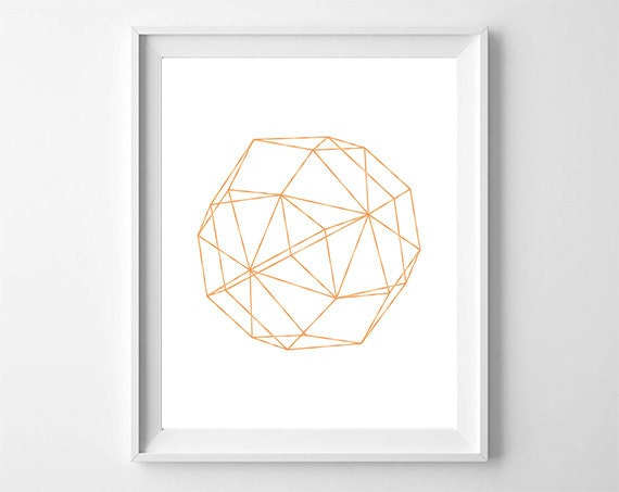 Rose gold print geometric printable minimalist wall decor for Decoration murale rose gold