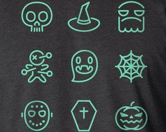 Halloween Shirt, Scary Things, Screen Printed Shirt, Halloween T Shirt, Halloween TShirt, Halloween Tee Shirts, Monster Shirt, Ghost Shirt
