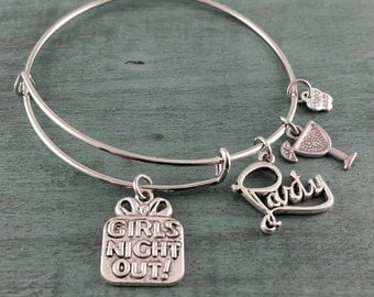 Girls Night Out ~ Adjustable Bangle Bracelet