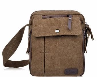 Retro Canvas Messenger Bag