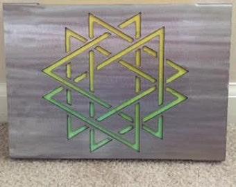 Metal Sign- Geometric Star