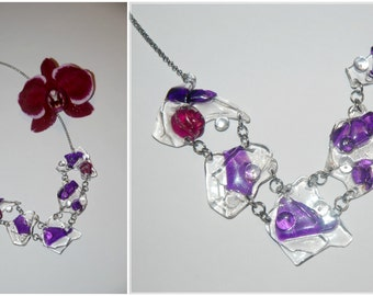 Ice hand made violet necklace (10)