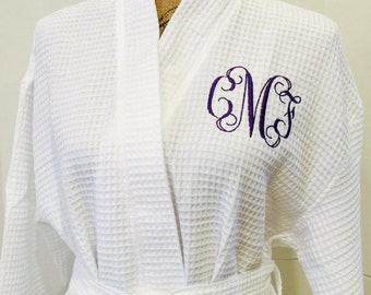 QUICK SHIPPING!!  Waffle Weave Bath Robe - Super Soft!!  We have lots of colors to choose from.  Monogram or sorority Greek letters!