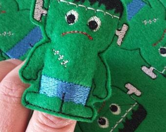 Frankensteins Monster finger puppet embroidery design