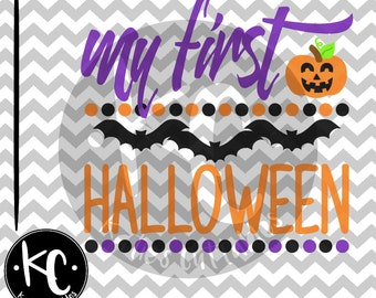 My 1st Halloween, Halloween, 1st, My First Halloween, Babys First Halloween .SVG/.PNG/.EPS Files