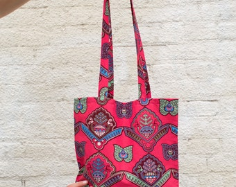 Bag with red African print