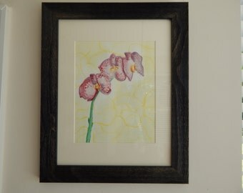Pink Orchid- Watercolor