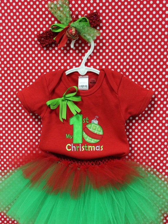 3c18458b9 DollyWolly Quilting and Sewing,LLC. 0. Baby girl First Christmas Outfit,1st  ...