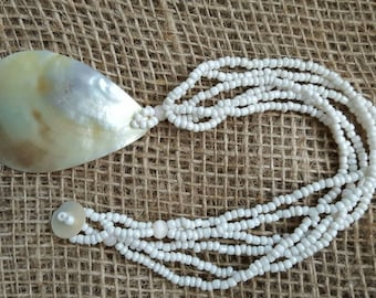 Mermaid shell necklace. Mother of pearl