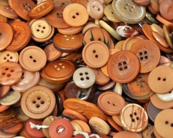 1/2 Pound Mixed Vintage Brown Buttons /347