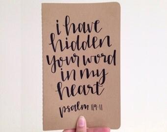 Psalm 119:11 | Moleskine Cahier | Hand Lettered Journal