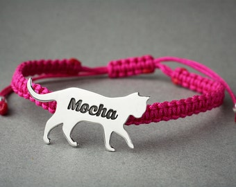 Personalised CAT BRACELET / SHORTHAIRED Cat Bracelet / Cat Bracelet / Kitty Cat Bracelet  / Silver, Gold Plated or Rose Plated.
