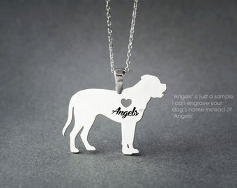 MASTIFF NAME Necklace - English Mastiff Name Necklace - Personalised Necklace - Dog breed Necklace - Dog Necklace