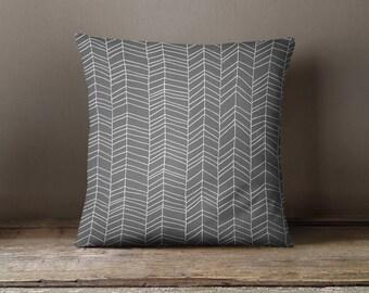 Gray Pillow | Gray Throw Pillow | Gray Chevron Pillow | Gray Pillow Case | Gray Cushion | Chevron Pillow | Chevron Pillow Case