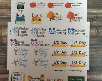 School Year Stickers