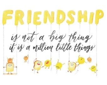 Friendship - Toastie Collection Art Print