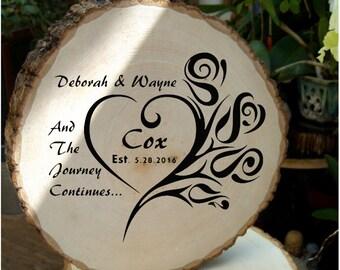 Wood Slice Wedding Gift/Sign
