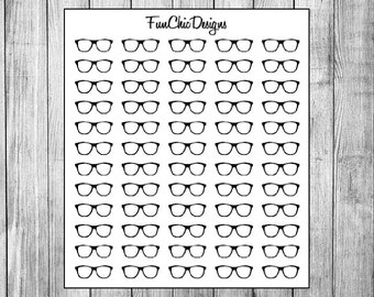 Glasses Planner Stickers