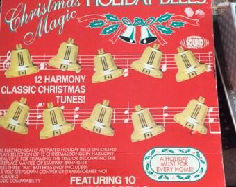 1991 Trendmaster Electronic Holiday Bells Christmas Magic 10 songs