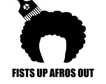 Fists Up Afros Out Beanie