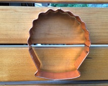 Handmade copper cookie cutter. 5 inch shell. FREE bonus recipe for the best shortbread you will ever taste.