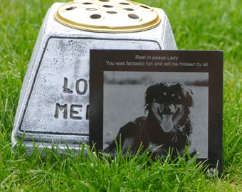 Dog Grave Marker Memorial With Photo And Personalized Message