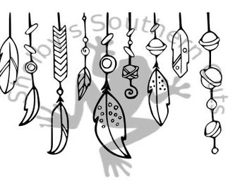 Native American Tassels SVG file