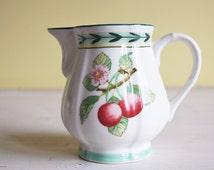 Creamer, milk jug, Villeroy & Boch, Fleurence, French Garden, summer, spring, light yellow, green, fruits, floral dinnerware, French country