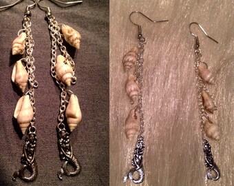Mermaid Hawaiian shell earrings