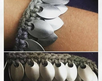 Crocheted Scalemaille Bracelet