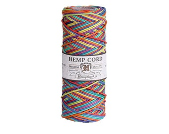 Rainbow Variegated Hemp Cord Spool