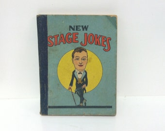 Vintage Antique 1923 New Stage Jokes Pocket Joke Book Western Printing & Lithographing Racine Wisconsin USA