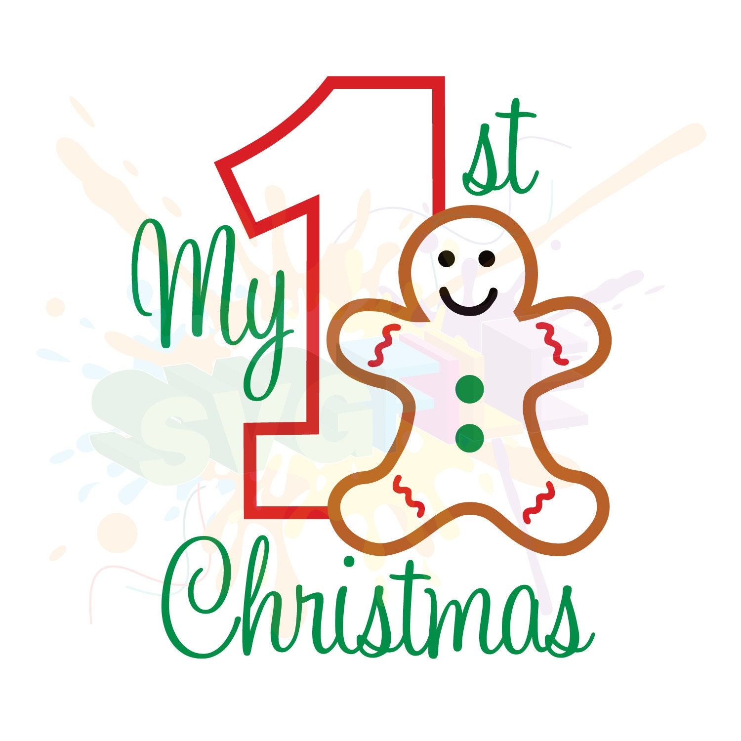 Download My First Christmas SVG Files for Cutting DXF Cricut ...