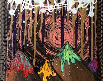 Original Psychedelic Desert Painting