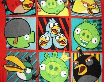 Angry Birds FLEECE Fabric Panel From David Textiles 1657