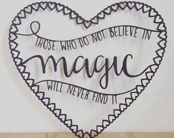 Those who do not believe in magic original design papercut