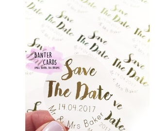 Save the date,wedding invite,save the date sticker,gold foil,gold stickers,gold foil print,wedding planning,bride to be,wedding stationary