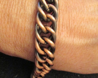 Heavy Weight Copper Bracelet> over 50 grams > 8 inches long>> very handsome!!!