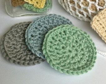 Crochet Face Scrubbies / Crochet Scrubbie Pattern / Crochet Laundry Bag Pattern / Makeup Remover Pads
