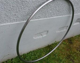 Brushed Steel Aerial Hoop - No Tab Design - PREORDER
