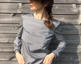 Blouse buttoned Pinstripe