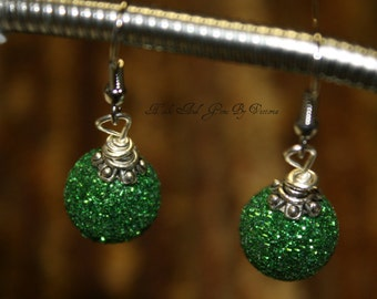 Christmas Bulb or Christmas Ornament Earrings