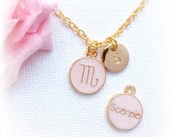 Scorpio Zodiac Sign Astrology Necklace, scorpio jewelry, star sign necklace,star sign necklace, October and November birthday / GFDISCSCOR