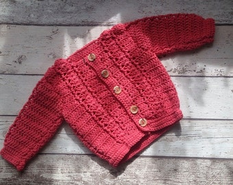 Newborn baby girl cardigan