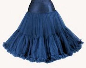 3 Layers Elizabeth Stone Navy 50's Rockabilly Underskirt crinoline Petticoat 26 Inch 3 Layers