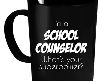 School Counselor Coffee Mug 11 oz. Perfect Gift for Your Dad, Mom, Boyfriend, Girlfriend, or Friend - Proudly Made in the USA!