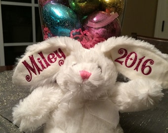 """Personalized Easter Bunny """"White Bunny"""""""